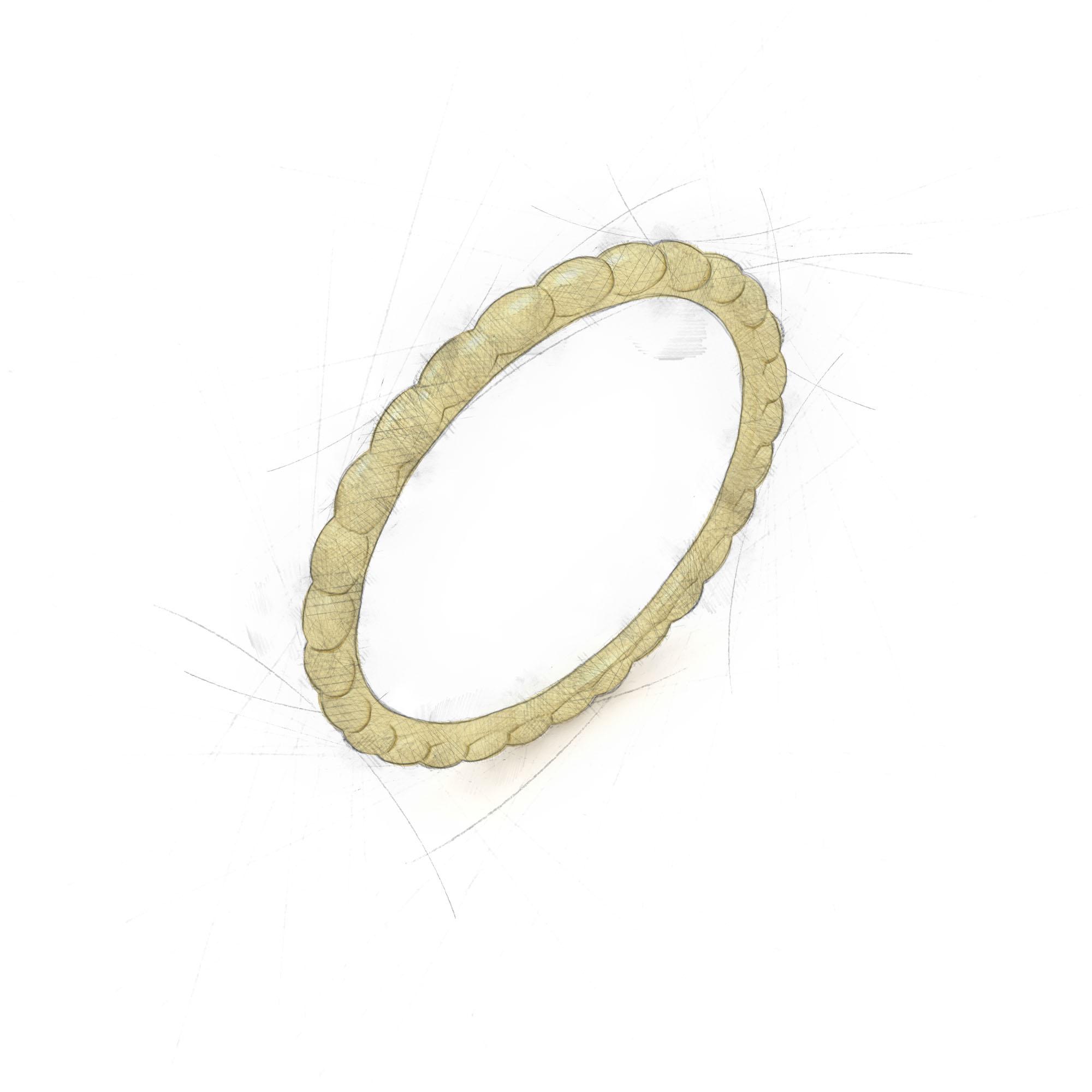 Ovaler Ring aus Waschgold von Filiotti