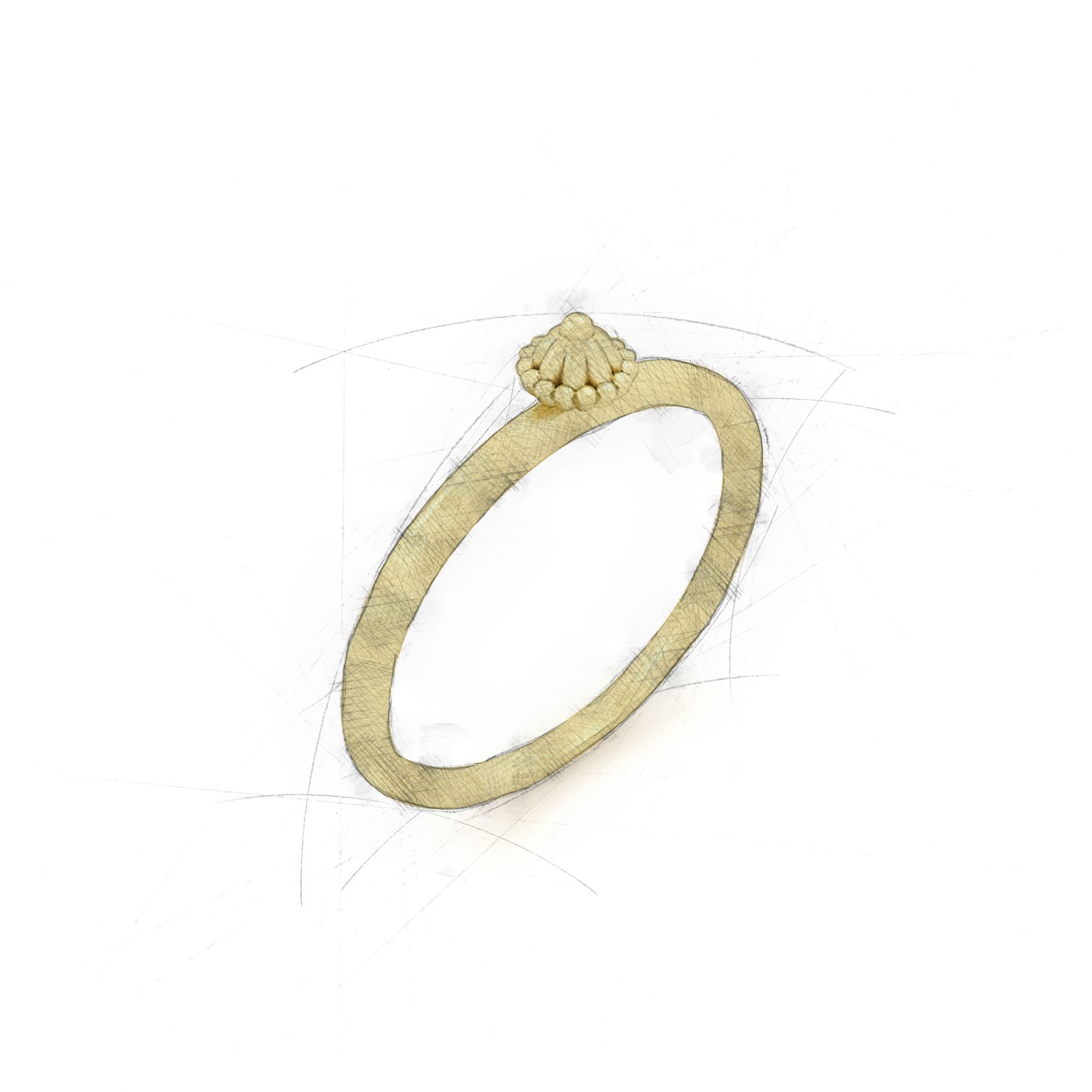 Einzelne Zipfelmütze in einem Ring von Filiotti